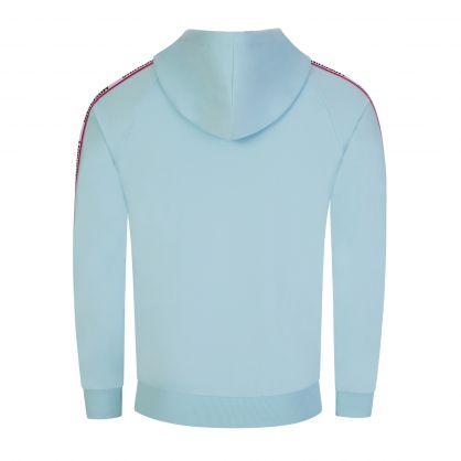 Light Blue Underwear Zip-Through Hoodie