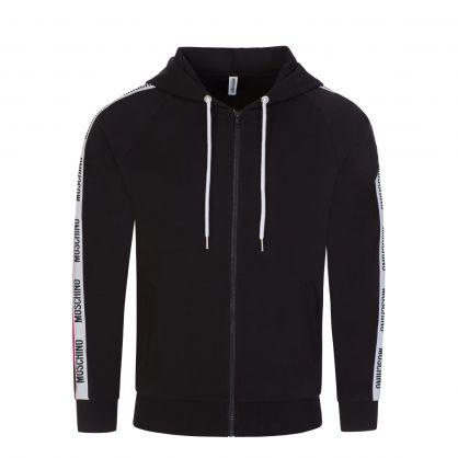 Black Underwear Zip-Through Hoodie