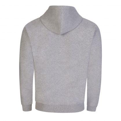 Grey Underwear Glitter Tape Sleeve Zip-Through Hoodie