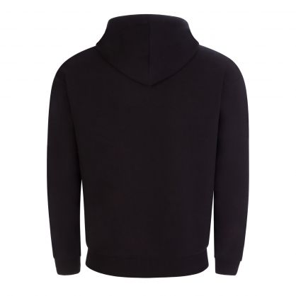 Black Underwear Glitter Tape Sleeve Zip-Through Hoodie
