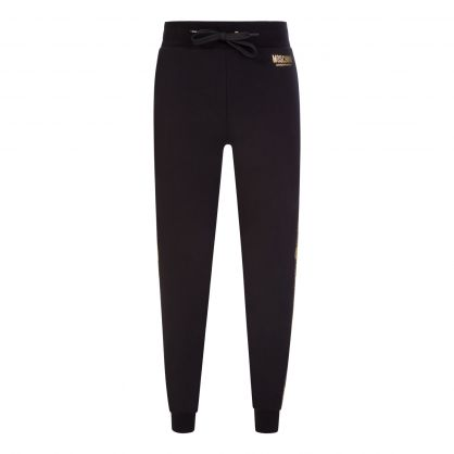 Black Underwear Gold Bear Logo Sweatpants