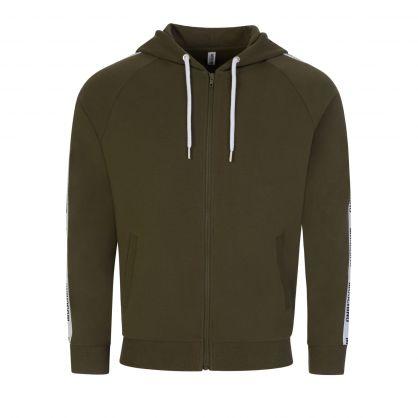 Green Underwear Zip-Through Hoodie