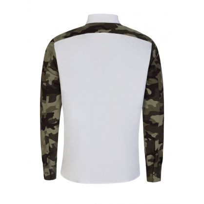 White Thunderbolt Camo Shirt
