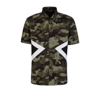 Green Camo Graphic Shirt