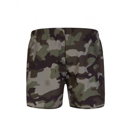 Green Camo Swim Shorts