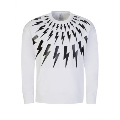 White Fair-Isle Thunderbolt Sweatshirt