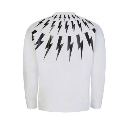 White Fair-Isle Thunderbolt Sweatshirt