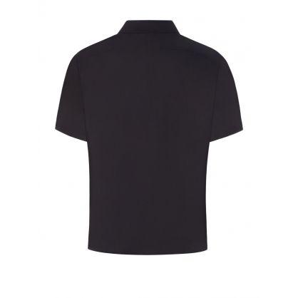 Black Fair-Isle Thunderbolt Hawaiian Shirt