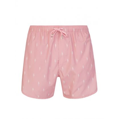 Pink All-over Thunderbolt Swim Shorts