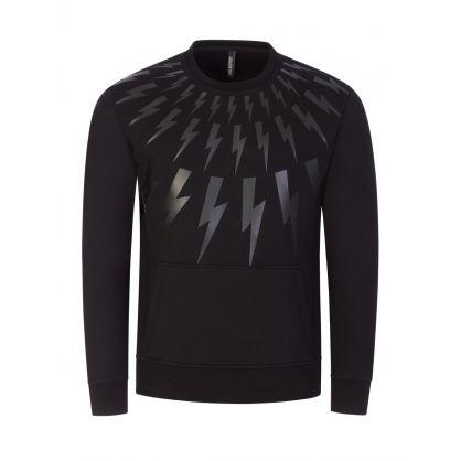 Black Fair-Isle Thunderbolt Sweatshirt