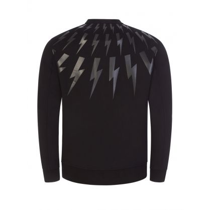 Black Fair-Isle Thunderbolt Sweatshirt