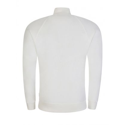 White Belvin X Funnel Neck Zip-Through Sweatshirt