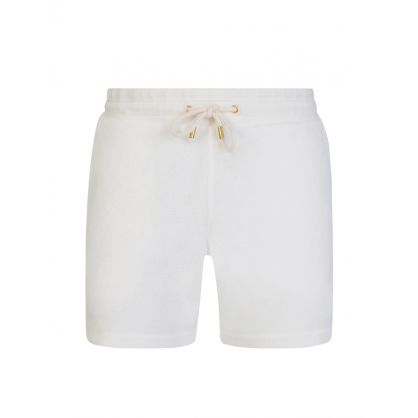 White Classic-Fit Bryant X Towelling Sweat Shorts