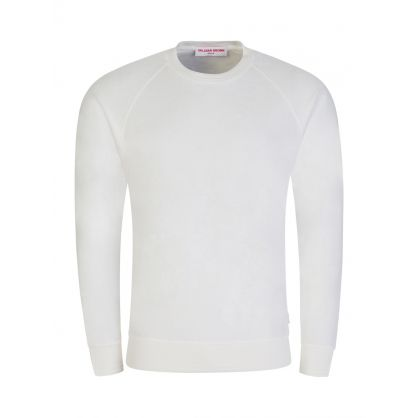 White Classic-Fit Burgess Towelling Sweatshirt