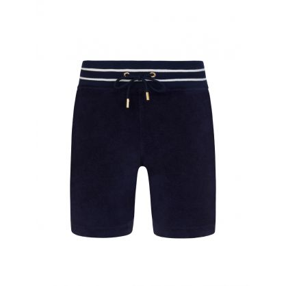 Navy Towelling Afador Shorts