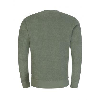 Green Pierce Towelling Sweatshirt
