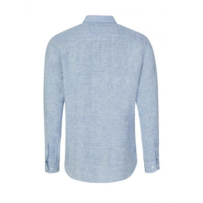 Navy/White Giles Linen Shirt