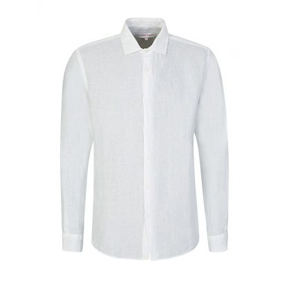 White Giles Linen Shirt