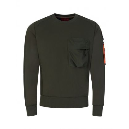 Green Chest Pocket Sabre Sweatshirt