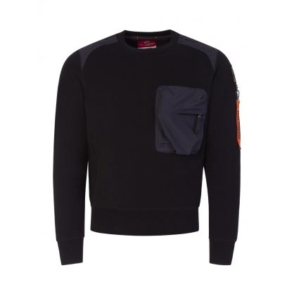 Black Chest Pocket Sabre Sweatshirt