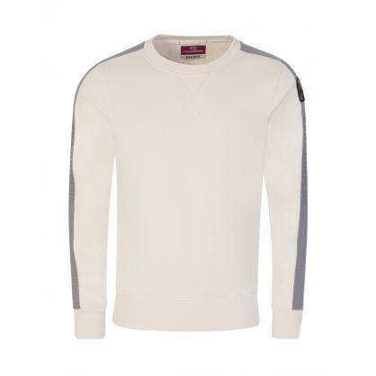 Cream Space Fleece Armstrong Tape Sweatshirt