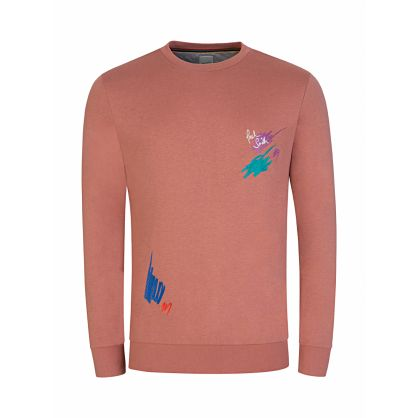 Pink 'Marker Pen' Embroidered Sweatshirt