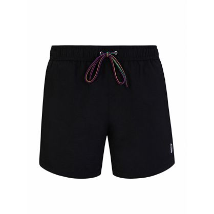Black Zebra Logo Swim Short