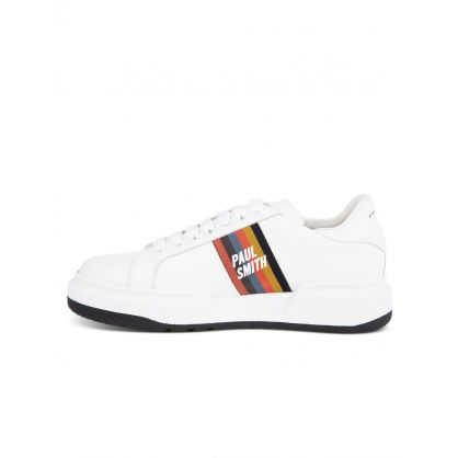 White Leather 'Leyton' Trainers