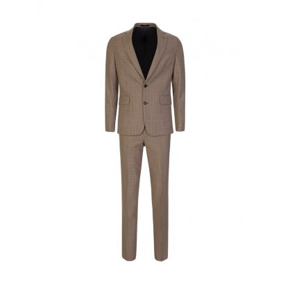 Tan Tailored-Fit Two-Button Suit