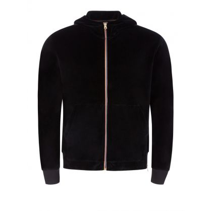 Black Artist Stripe Zip-Through Jacket
