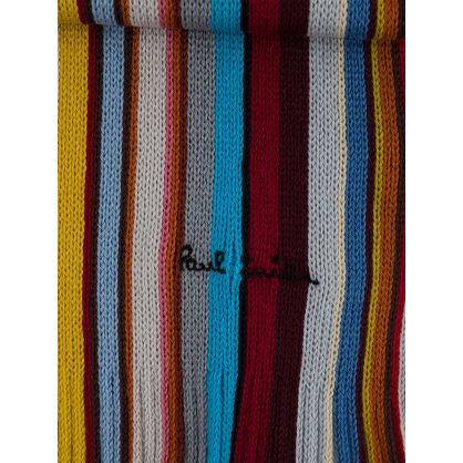 Paul Smith Multicolour 'Signature Stripe' Wool Scarf