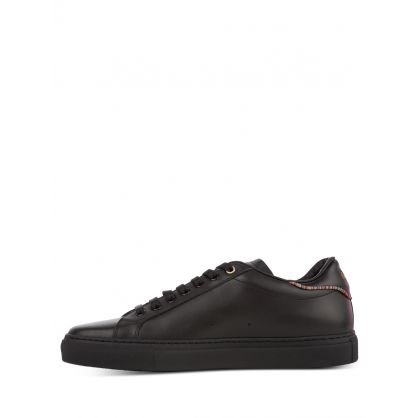 Black Leather 'Beck' Trainers