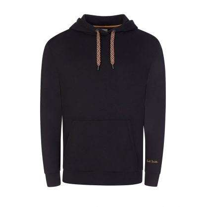 Black Gold Logo Embroidered Hoodie