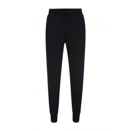 Black Rose Print Sweatpants