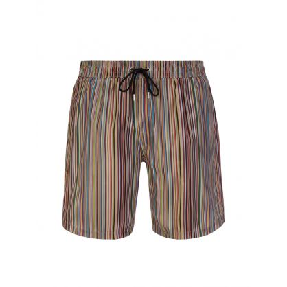 Multicolour 'Signature Stripe' Swim Shorts