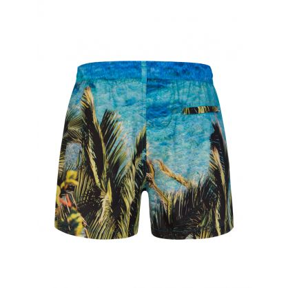 Black Palm Tree Swim Shorts