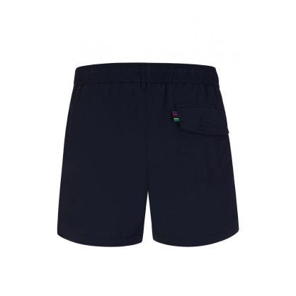 Navy Zebra Logo Swim Shorts