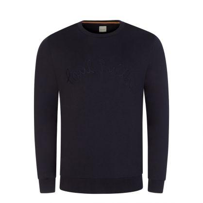 Dark Navy Rope Embroidery Sweatshirt