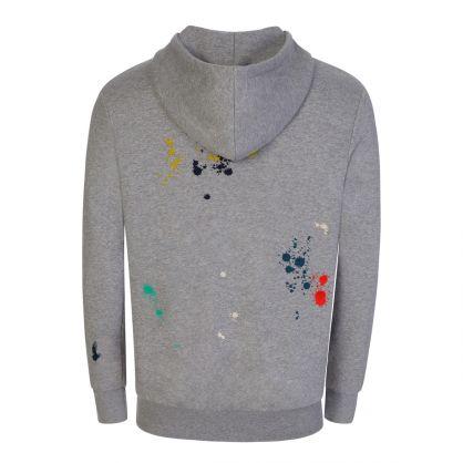 Grey Paint Splatter Popover Hoodie