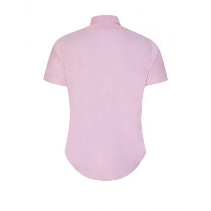 Pink Slim Fit Oxford Short Sleeve Shirt