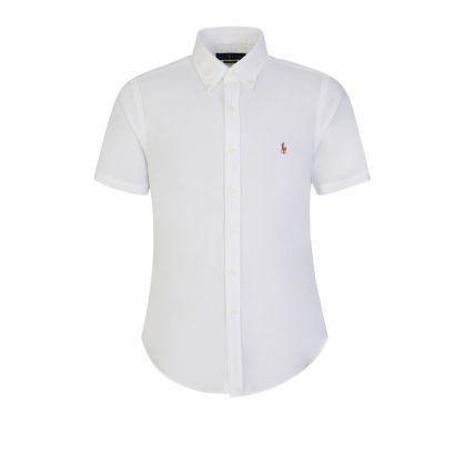 White Slim Fit Oxford Shirt