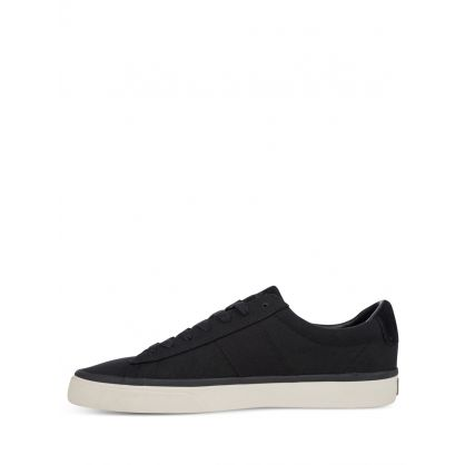 Black Sayer Canvas Trainers