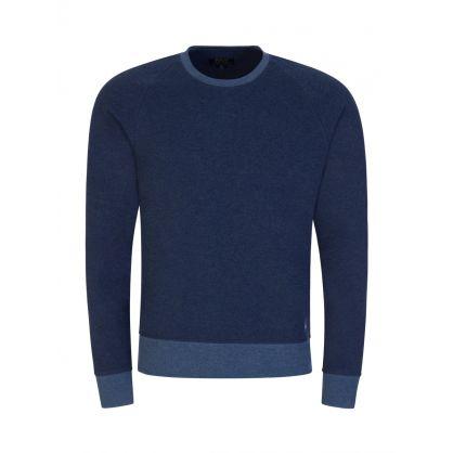 Blue Fleece Lounge Sweatshirt