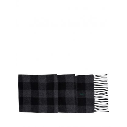 Black/Grey Check Scarf