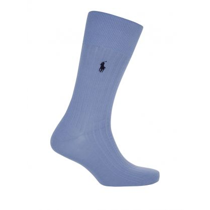 Black/Pink/Blue Egyptian Cotton Socks 3-Pack