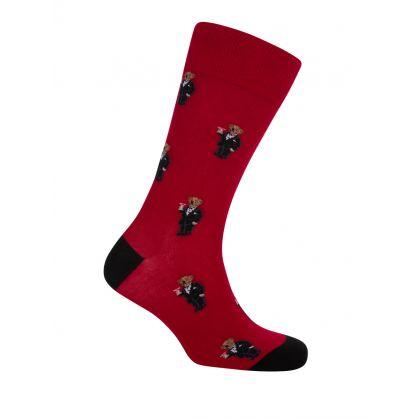 2 Pack Tuxedo Bear Socks