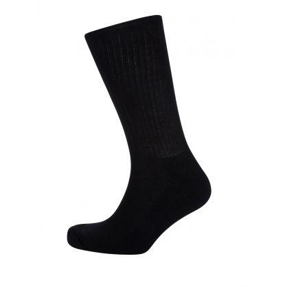 Black Classic Cotton Sports Socks 6-Pack