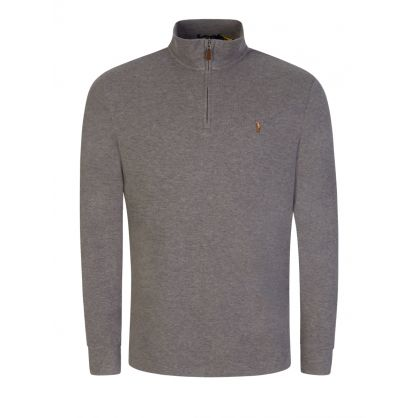 Grey 1/4 Zip Sweatshirt
