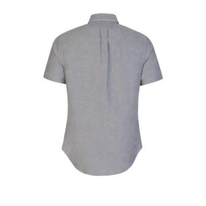 Grey Oxford Button Down Shirt