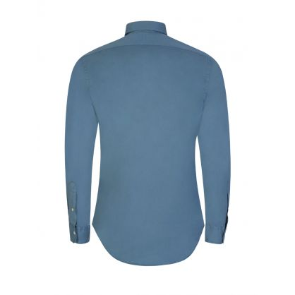 Blue Slim Fit Chino Shirt